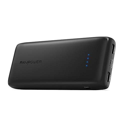 """Type-C Powerbank RAVPower 22000mAh Externer Akku mit USB C Anscluss und Zwei iSmart USB Anschlüsse, für iPhone 8/iPhone 8 Plus/iPhone X, iPad, MacBook 15"""", Samsung 8, Huawei Mate 9"""
