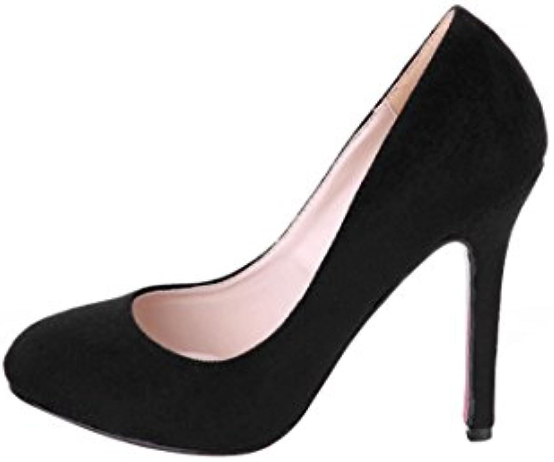 HooH Femmes Femme De Bureau EscarpinsB0148BAVOGParent Noir Stiletto EscarpinsB0148BAVOGParent Bureau 8949d0