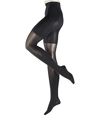 FALKE Damen Strumpfhose Cellulite Control, 50 Den, Schwarz (Black 3009), 44 (Herstellergröße: L)