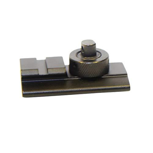 Cobra Tactical Solutions | Taktisches Zweibein Adapterhalterung für Picatinny Slot Drehbolzen Swivel Stud | Schwarz matt | 20mm Rail | Jagd Varmint Luftgewehr Schießstand Airsoft -