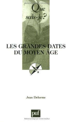 Les Grandes Dates du Moyen Age par Jean Delorme