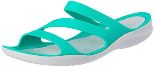 crocs Damen Swiftwater W Peeptoe Sandalen, Grün (Tropical Teal/ Light Grey 3o2), 41/42 EU -