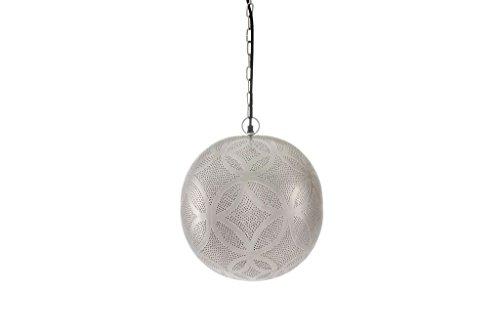 Emporio Arts NEUF faite à la main à suspendre élégant pendentif boule lumineuse en forme de rond plafond Abat-jour Cercle trous Etching, Lzc2412, fer, Argent, E27, 60 Watts
