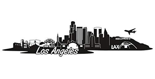 Samunshi® Los Angeles Skyline Aufkleber Sticker Autoaufkleber City Gedruckt in 7 Größen (15x3,6cm schwarz)
