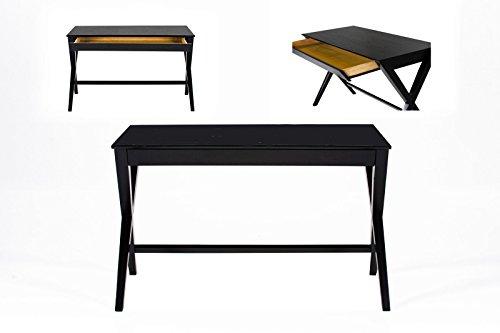 ABC Home Lampentisch skandinavischer Stil Schreibtisch, schwarz (Zeitgenössischen Esstisch Schwarze)
