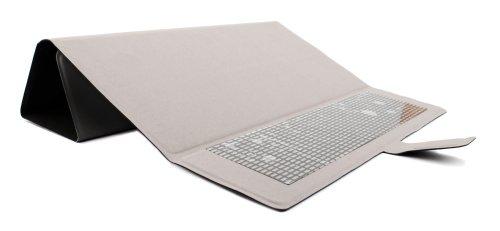 Elegante, SCHWARZE Schutzhülle mit praktischer Standfunktion, geeignet für TrekStor PrimeTab P10 Wifi, SurfTab breeze 10.1 quad plus, duo W1, SurfTab wintron 10.1 3G / Volks-Tablet Tablet PCs - von DuraGadget