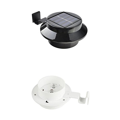 ar Light Outdoor LED Garden Light Security Pathway Wall Lamp Waterproof Black&White ()