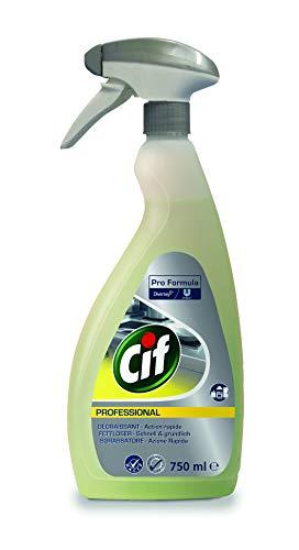Cif Professional 100856436 Power Fettlöser Konzentrat, parfüm und farbstofffrei mit aluminiumverträglich für Gastro- Lebensmittel-Bereich, 0,75 L