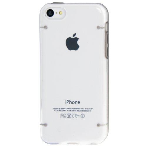 """iPhone 5C coque/Case/Coque en gris avec panneau arrière transparent en polycarbonate de qualité style """"de Bumper Case-Original seulement de thesmartguard"""