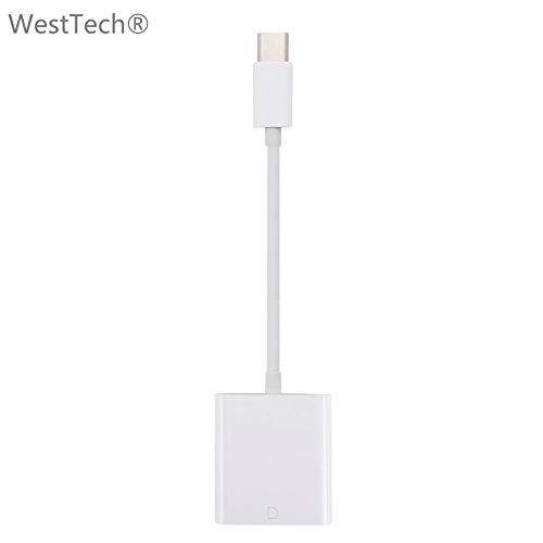 WestTech USB-C Type-C da Lightning a Scheda SD, USB-C Type-C to SD Card Reader Adapter for Apple Macbook Pro, Samsung Galaxy S8/S8 +/Note 8/S9/S9/S9 +/Note 9, Huawei, Google Pixel Android Smartphone