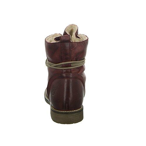 BOXX WH-042H10-S Damen Schnürstiefelette Warmfutter sportlicher Boden Rot (Rot)