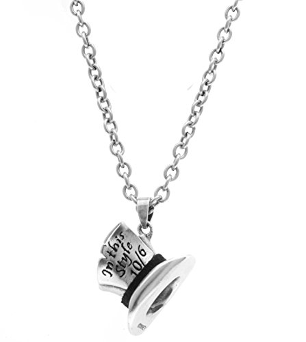 "Disney Couture-Collana classica in argento, motivo: ""Alice in Wonderland-Mad Hatter-Collana lunga"
