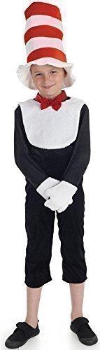 Jungen Mädchen Katze im Hut Animal Buch Tag Woche Kostüm Verkleiden Outfit 6-12 jahre - Schwarz, Schwarz, 8-10 Years