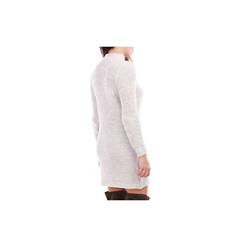La Modeuse - Robe pull à manches longues Beige