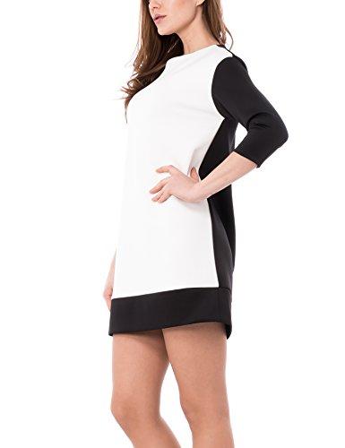Solo Capri - Vestito da donna Multicolore (Nero/Bianco)