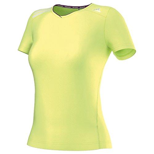 Adidas climachill t-shirt à manches courtes pour femme Jaune - Glow S14/Tribe Purple S14