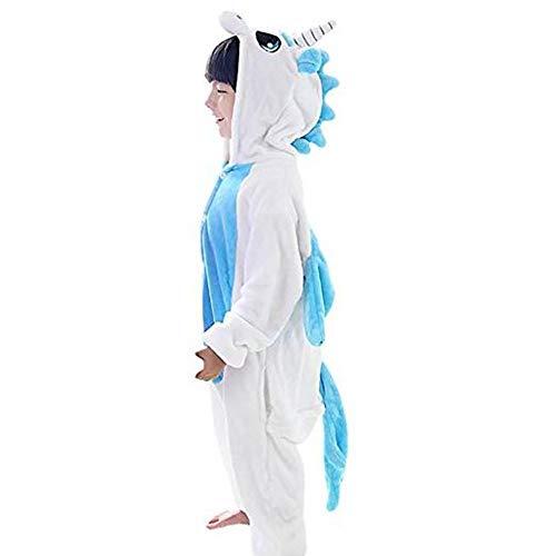 Einhorn Kostüm Kinder Blau - GWELL Kinder Kostüm Tier Kostüme Schlafanzug