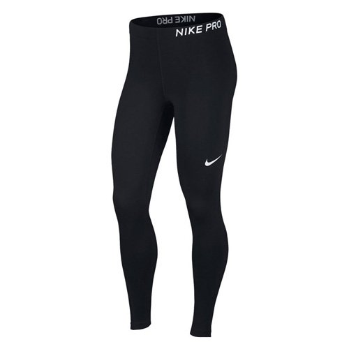 Nike Women Pro Tights - Black/Black/White, Small