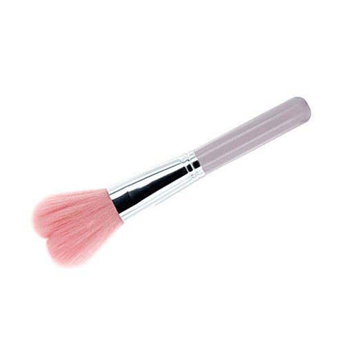 Pinceau à Blush Brosse à Poudre Cœur-Forme Rose Outil de Maquillage Soins du Visage