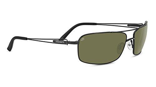Serengeti dante, occhiali da sole unisex, satin black, m/l