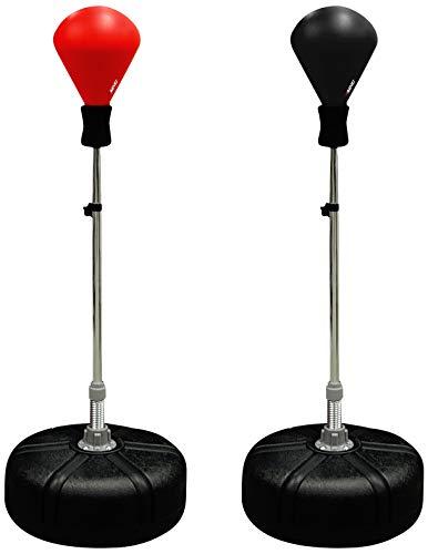 Avento Standbox-Trainer Boxsack, Rot/Schwarz, One Size