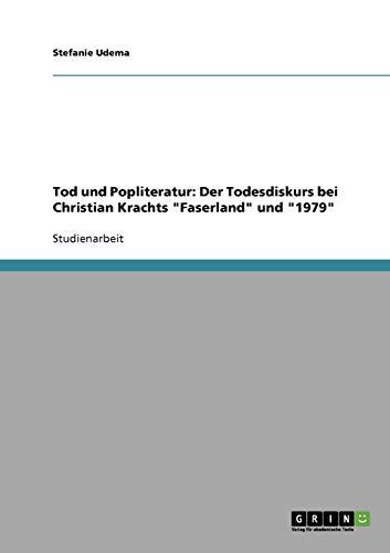 Tod und Popliteratur: Der Todesdiskurs bei Christian Krachts