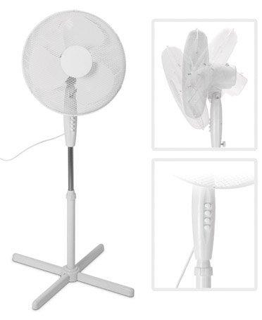 Standventilator 40cm Durchmesser bis 125cm verstellbar Kühler Raum-Lüfter Luft-Erfrischer Lüftung
