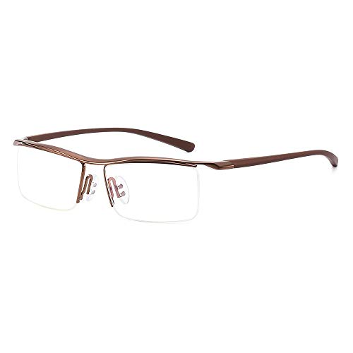 Rahmen Flache Gläser for Männer Plain Glasses Classic Plastic Optical Mirror Glasses Brille (Color : Kaffee, Size : Kostenlos)