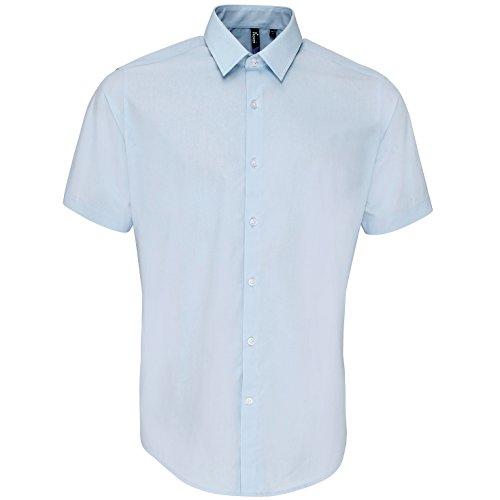 Preisvergleich Produktbild Premier Supreme Herren Hemd / Arbeitshemd, schwere Qualität, kurzärmlig (Kragenweite 47) (Hellblau)