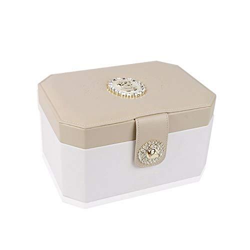 XIAOJUNJUN Aufbewahrungsboxen Schmuck Box Halskette Box Prinzessin Europäischen Ohrringe Ring Geschenk Geschenk Geburtstag Licht Gelb 24 * 17 * 13 cm (Aufbewahrungsbox Licht)