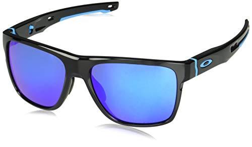 Oakley Herren Crossrange XL 936013 58 Sonnenbrille, Schwarz (Polished Black/Prizmsapphire)
