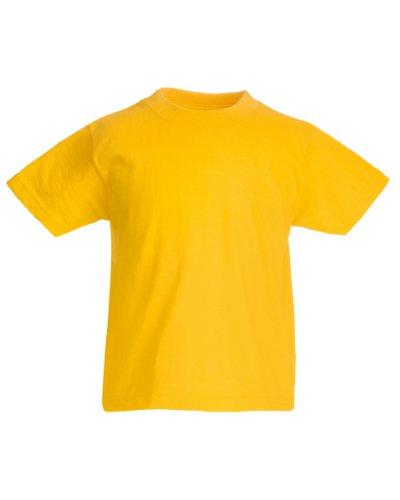 Fruit Of The Loom - Camiseta básica de manga corta para niño/niña unisex - 100% algodon de primera calidad