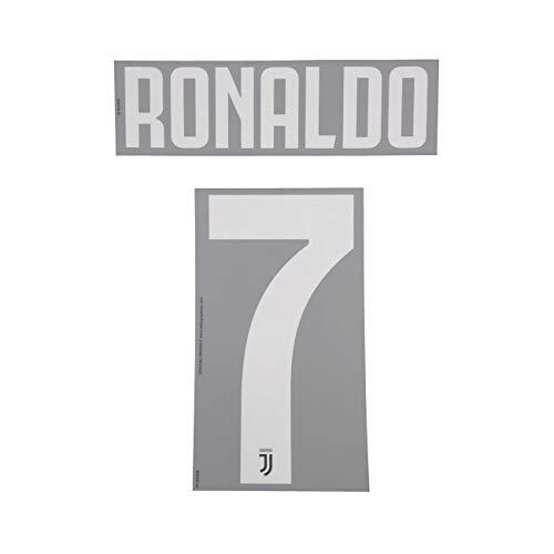 DEKOGRAPHICS Juventus 7 Ronaldo Name und Nummer auf Trikot Kinder Home 2019/20 - Schwarz, 7 - Ronaldo (Cristiano Ronaldo-trikot-kit)