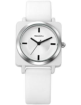JSDDE Uhren,Damen Herren Armbanduhr Zeitlose Disign Wasserdicht Sport Uhr Silikon Uhrenarmband Analog Quarzuhr...