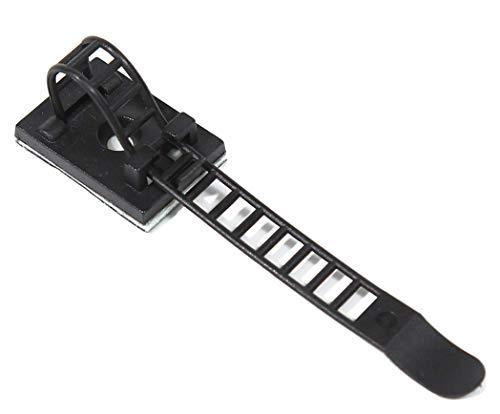 ZADAWERK® Kabelklemme - Schwarz - 50 Stück - Kabelclips selbstklebend - Set