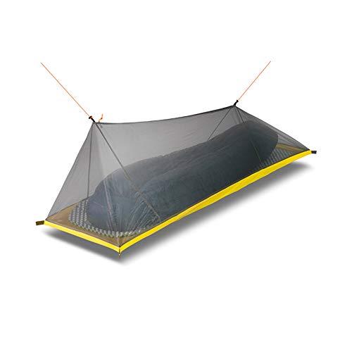 YHLU 260G Ultraleicht Outdoor Camping Zelt Sommer 1 Einzelperson Mesh Zelt 4 Jahreszeiten Innenkörper Innenzelt Vents Moskitonetz,Black