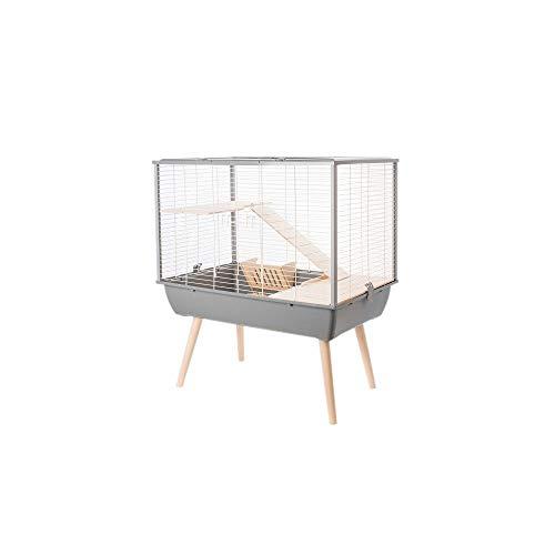 Cage Neo Muki Grand Rongeur L 77.5 X P 47.5 X H 87.5 Cm Grise