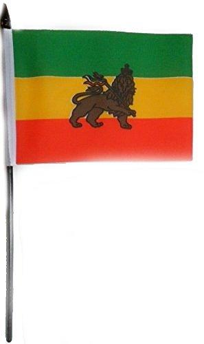 gizzy-athiopien-lowe-152-x-102-cm-tisch-flagge-mit-stick-und-boden