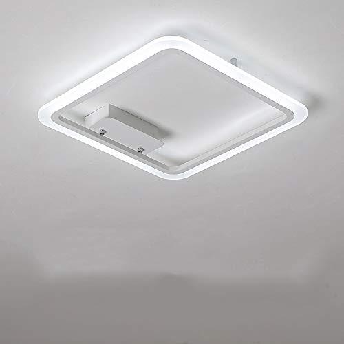 HviLit Plafoniera moderna a LED quadrata con telecomando Lampada da soffitto dimmerabile super luminosa Apparecchio ferro da stiro in vetro acrilico Lampada a sospensione a soffitto for sala da pranzo