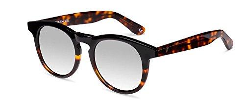 Wolfnoir Unisex-Erwachsene Hathi Ace Bicome Black Sonnenbrille, Mehrfarbig (Negro/Gris Plata), 45