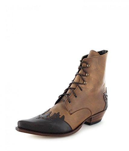 Sendra boots 11699 western schnürstiefelette bottines pour femme (plusieurs coloris) Chocolate Tang