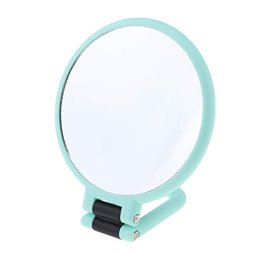 IPOTCH Doppelseitiger Vergrößerungs-Schminkspiegel Handspiegel Kosmetikspiegel Tischspiegel Makeup Spiegel - 3-fache Vergrößerung