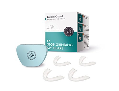 Professional Dental Guard - Pack Of 4 - Stops Teeth Grinding, Bruxism, Tmj, & Eliminates Teeth Clenching. Includes Fitting Instructions & Anti-Bacterial Case. 100% Satisfaction Guaranteed Nightguard!