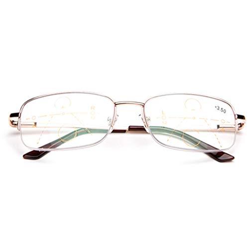ZY Reading Glasses Smart Automatic Zoom Progressive Multi-Focus-Lesebrille, photochrome Fern- und Nah-Dual-Use-Sonnenbrillen für Männer und Frauen