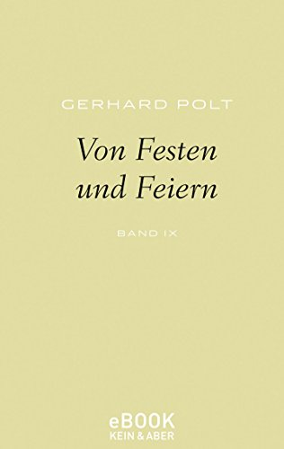Von Festen und Feiern (German Edition)