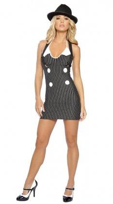 neuen Frauen 2Stück weiß & schwarz Tippen Tänzerin Cabaret Künstler Fancy Kleid Kostüm Hen Night Halloween Party Größe 8–10