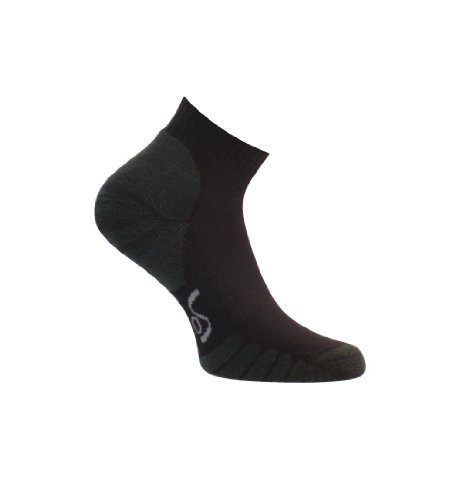 Eurosocks 3812Multisport Cool Low Cut Socken Running Cycling & Court Sport–Paar, damen Herren Mädchen Jungen unisex, schwarz, L (Acryl Multi-sport-socken)
