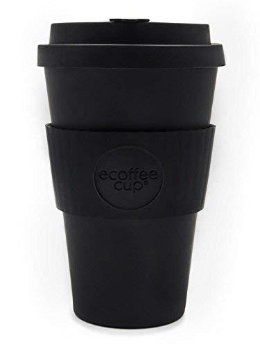 Ecoffee-Becher: Kerr & Napier - wiederverwendbarer Kaffeebecher mit schwarzem Silikon, umweltfreundlich, ca. 414 ml
