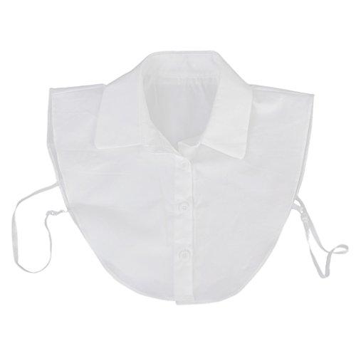Haorw Krageneinsatz Damen Viktorianisch Jahrgang R/üschen Frauen Kragen Abnehmbare H/älfte Shirt Bluse