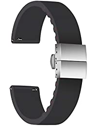 Ullchro Correa Reloj Calidad Alta Recambios Correa Relojes Caucho - 14mm, 16mm, 18mm,